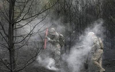 Площадь пожаров под Киевом сокращается