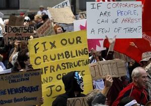 Акция Захвати Wall Street: в Нью-Йорке манифестанты спели Интернационал