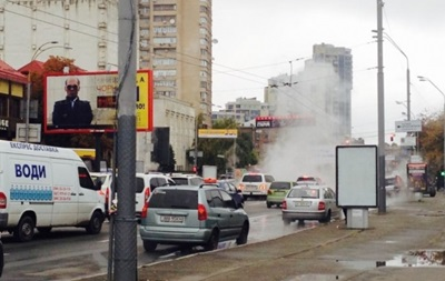 В Киеве прорвало теплотрассу