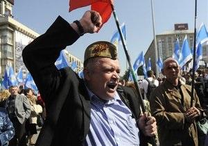 МВД: На Первомай вышли более 250 тыс. украинцев