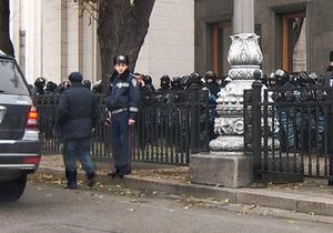 Участники акции протеста в Киеве заявляют, что их штрафует ГАИ