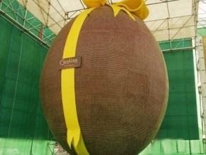 Самое большое в Украине шоколадное яйцо продали за 3,6 тысяч гривен