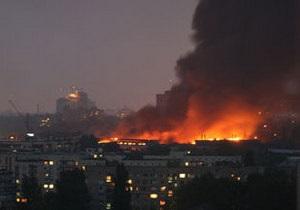 Крупный пожар на складах Эльдорадо в Киеве потушен