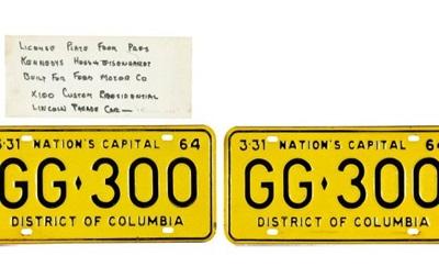 Номерной знак машины президента Кеннеди продан за $100 тысяч