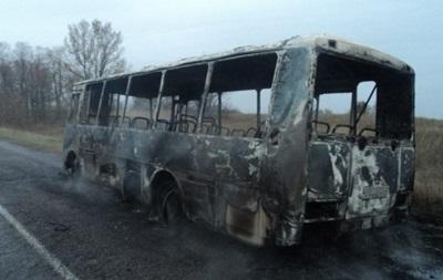 На Виннитчине сгорел пассажирский автобус