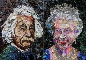 В Великобритании художница создает портреты из мусора