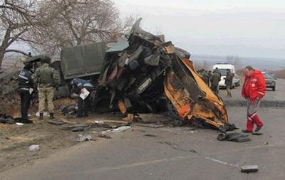 ДТП с военными на Луганщине: появились фото