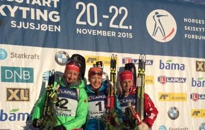 Биатлон: Джима побеждает на предсезонном турнире в Норвегии