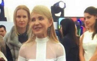 Соцсети обсуждают праздничное платье Тимошенко