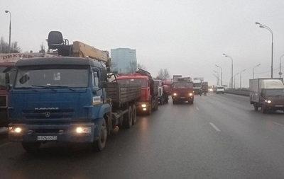 Дальнобойщики начали акцию протеста в Москве