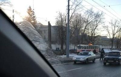 В Харькове на ходу загорелся трамвай