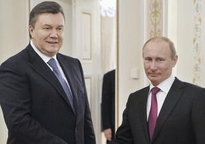 Янукович: Путин поставил задачу активно работать с Украиной