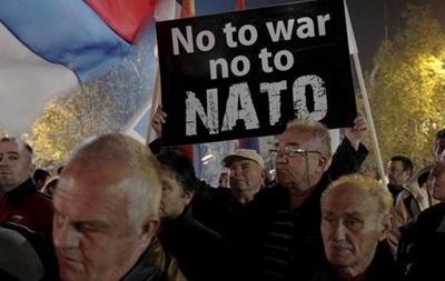 В Черногории митинговали против вступления в НАТО