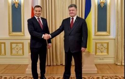 Порошенко и Дуда обсудили антироссийские санкции