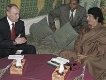 Источник: По итогам переговоров Путина и Каддафи будет подписан ряд документов