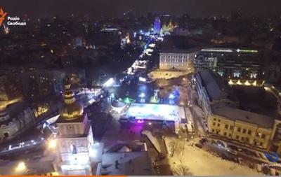 Новый год в Киеве с высоты птичьего полета