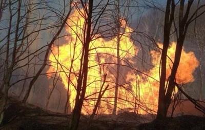 На Закарпатье горит газопровод