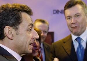 Янукович хочет встретиться с Саркози