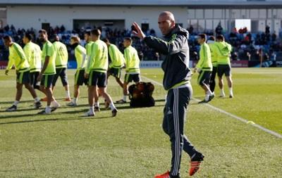 Зидан провел первую тренировку Реала в качестве главного тренера