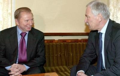 Кучма провел переговоры с Грызловым