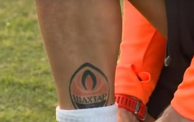 Срна набил татуировку с эмблемой клуба