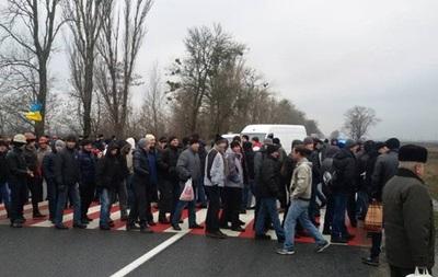 Шахтеры снова перекрыли трассу во Львовской области