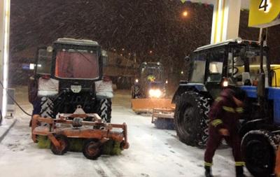 Снегопад в Киеве: столицу закрыли для грузовиков