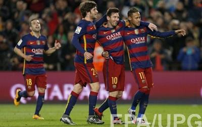 Месси и Суарес отправили семь мячей в ворота Валенсии в Кубке Испании