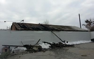 В Киеве горел цех металлических изделий