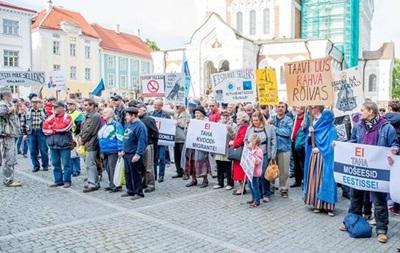 В Эстонии прошли антимигрантские акции