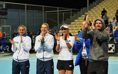 Украинские теннисистки пробилась вплей-офф 2-ой Мировой группы