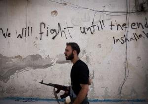 Повстанцы заявили, что перебежчики из сирийской армии предоставили им химоружие