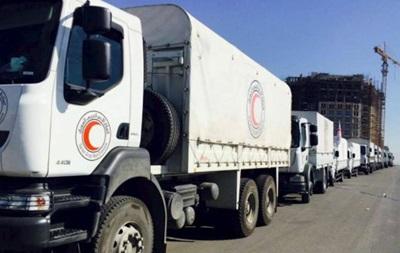 В Сирию прибыла первая гуманитарная колонна