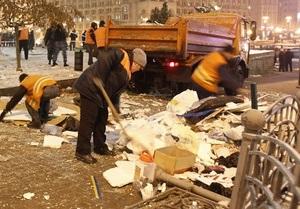 В ПР заявили, что палатки на Майдане демонтировали законно: Решение суда нужно выполнять
