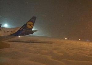 Аэропорт Борисполь отменил почти все рейсы