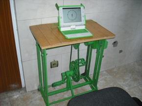 Афганские ученые создали ноутбук, работающий от педальной системы
