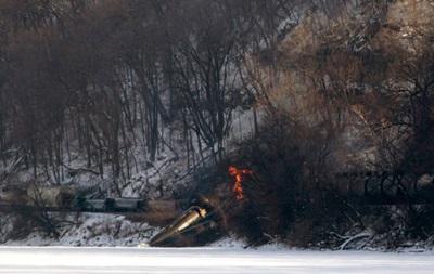 В США сошел с рельсов поезд с этанолом