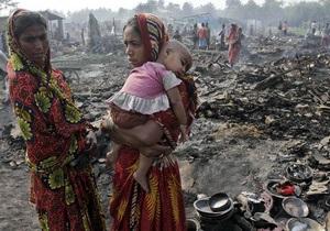 На востоке Индии выгорел целый район трущоб