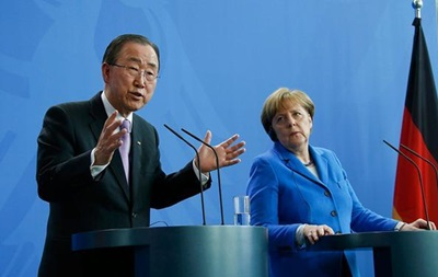 Генсек ООН поддержал позицию Меркель по беженцам