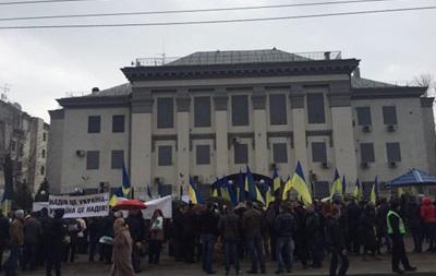 Посольство РФ в Киеве забросали яйцами и йодом