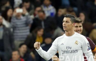 Роналду признали лучшим игроком недели Лиги чемпионов