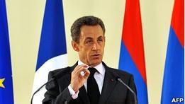 От Саркози в Тбилиси ждут  четкого сигнала  России