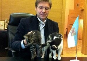 Мэр Риги выбрал двух официальных котов города