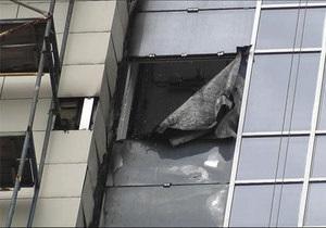 В Донецке возле Донбасс Арены горел строящийся к Евро-2012 отель