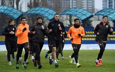 Шахтер провел тренировку перед ответным матчем Кубка Украины