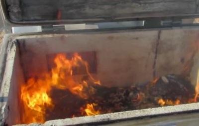На въезде в Крым уничтожили украинскую колбасу