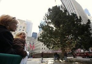 В Нью-Йорке установили главную рождественскую елку США