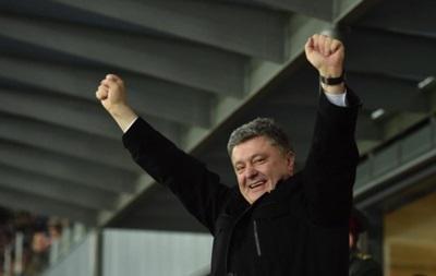 Порошенко поздравил Шахтер с выходом в полуфинал