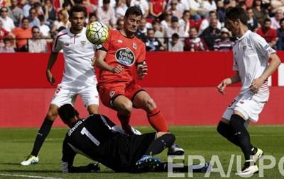 Севилья не смогла победить Депортиво в чемпионате Испании