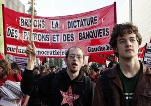 В Брюсселе прошла акция протеста против финансовой политики ЕС